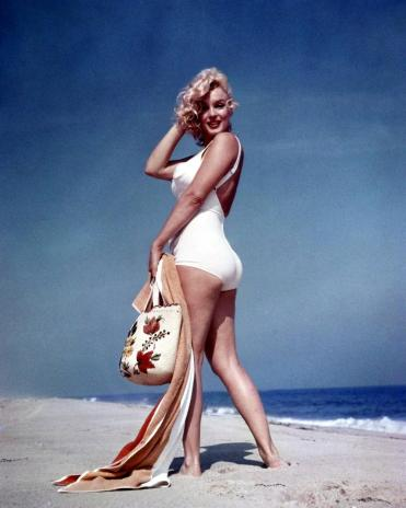 P1008-font-b-MARILYN-b-font-font-b-MONROE-b-font-Bathing-Suit-On-Beach-blue
