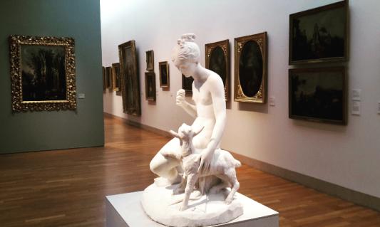 'Jeune fille au chevreau' - Jean-Jules-César Laurent
